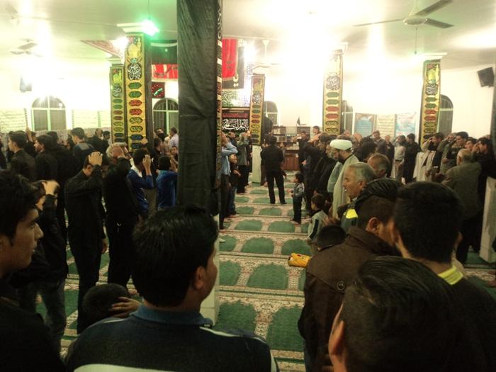 مراسم شب دوم محرم درهئیت  مسجد الرضا رابر