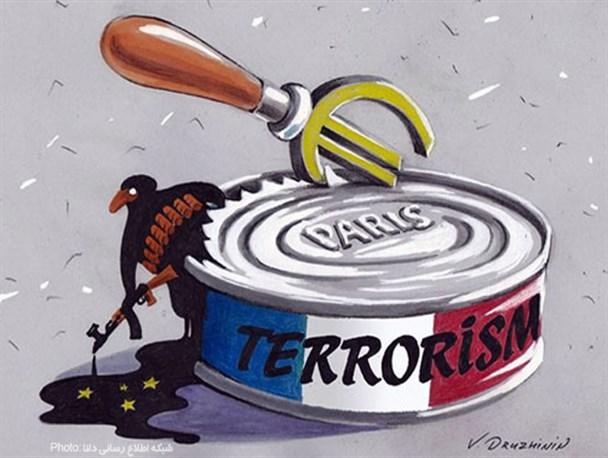 مجموعه کاریکاتورها در مورد حوادث پاریس/چاقویی که دسته خود را برید+کارتون