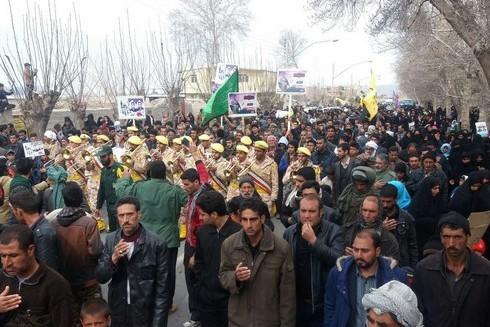پیکر مطهر دو شهید مدافع حرم در گلزار مطهر شهدا بردسیر تشییع و تدفین شد/ تصاویر