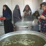 پخت چندین ساله آش نذری امام زمان (ع) در دهستان جواران رابر