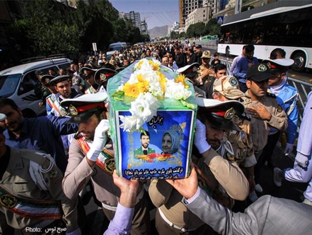 پیکر مادر شهید صیاد شیرازی در مشهد تشییع شد