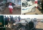 بی احتیاطی راننده تریلر یک معلم و دانش آموز را به کام مرگ کشاند/تصاویر