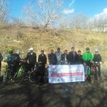 استقبال از تیم دوچرخه سواری برنا سیرجان در شهرستان رابر/ تصاویر