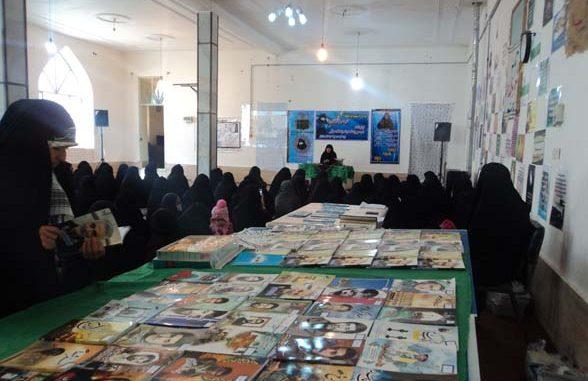 برپایی نمایشگاه کتاب سردار کانال کمیل شهید ابراهیم هادی در رابر