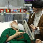 رهبر معظم انقلاب اسلامی از آیت الله هاشمی شاهرودی عیادت کردند
