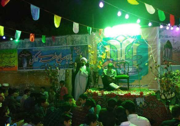 برگزاری جشن شب ولادت حضرت مهدی (عج) در مسجد صاحب الزمان رابر به روایت تصویر