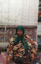 ارادتی فقیرانه اما مخلصانه در تار و پود قالی دره در رفسنجان
