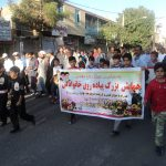 برگزاری همایش پیاده روی خانوادگی در رابر /تصاویر
