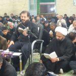 دعای پرفیض ندبه با نوای حاج رضا نبوی مداح کشوری در مسجد صاحب الزمان رابر/تصاویر