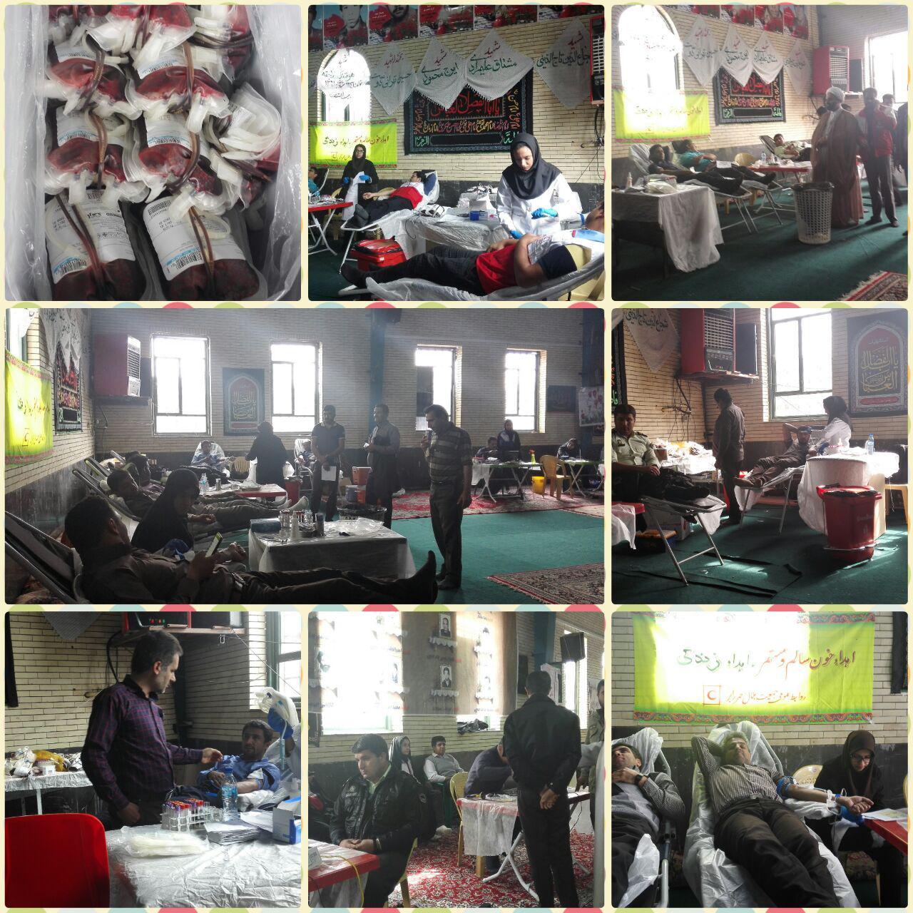 ۱۱۰ رابری به زلزله زدگان کرمانشاه  خون اهدا کردند