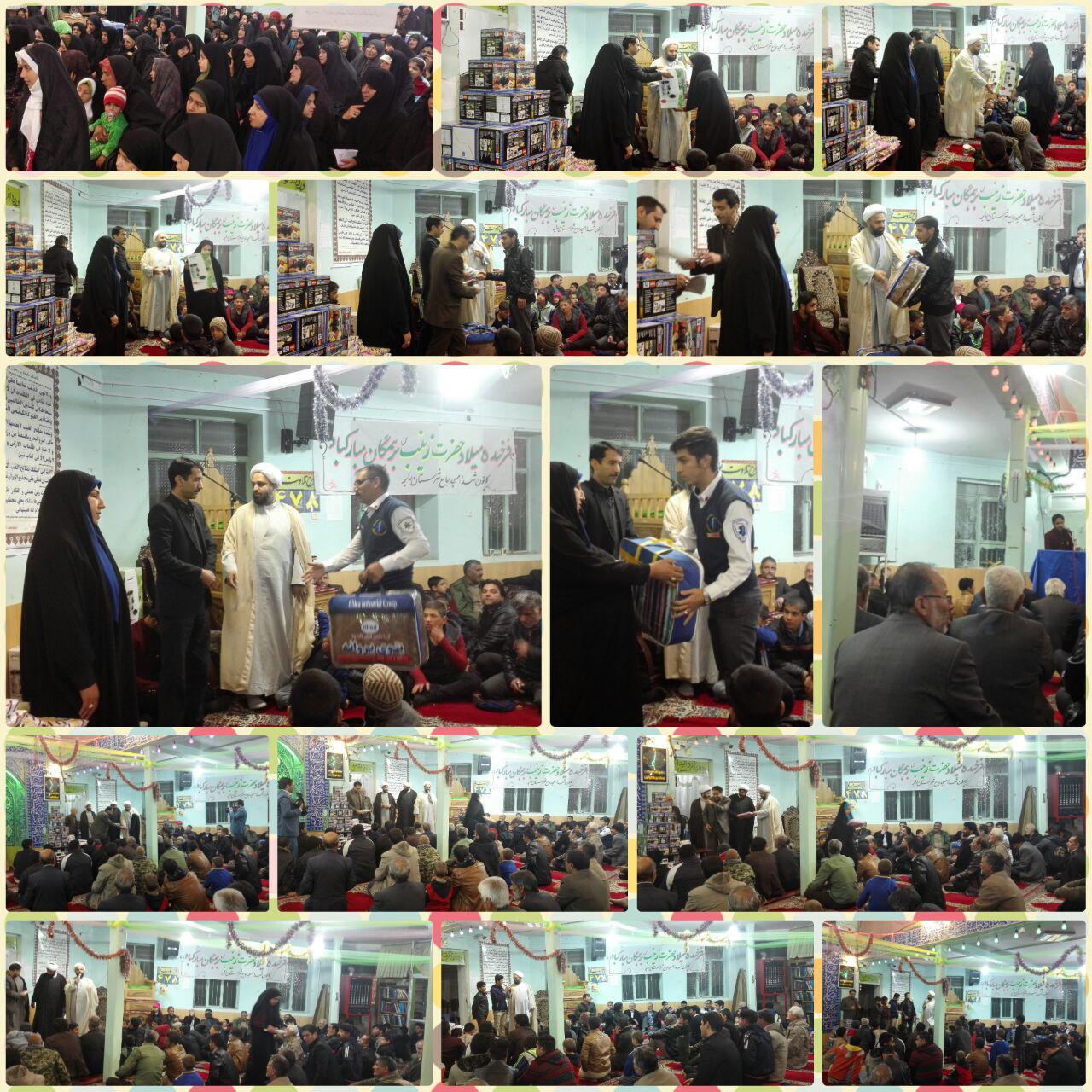 برگزاری جشن ولادت حضرت زینب کبری (س) با تجلیل از پرستاران و نام های زینب در رابر /تصاویر