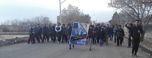 همایش پیاده روی خانوادگی بمناسبت دهه فجر در رابر برگزار شد
