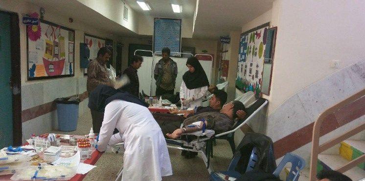 مردم رابر ۴۵ هزار سی سی خون به یاد شهدای انقلاب اهداکردند