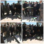 ادای احترام وزیر علوم و مسوولان به مقام شامخ شهدای روستای قنات ملک