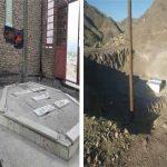 گرد فراموشی بر قبور ۷شهید گمنام شهرستان رابر / تصاویر