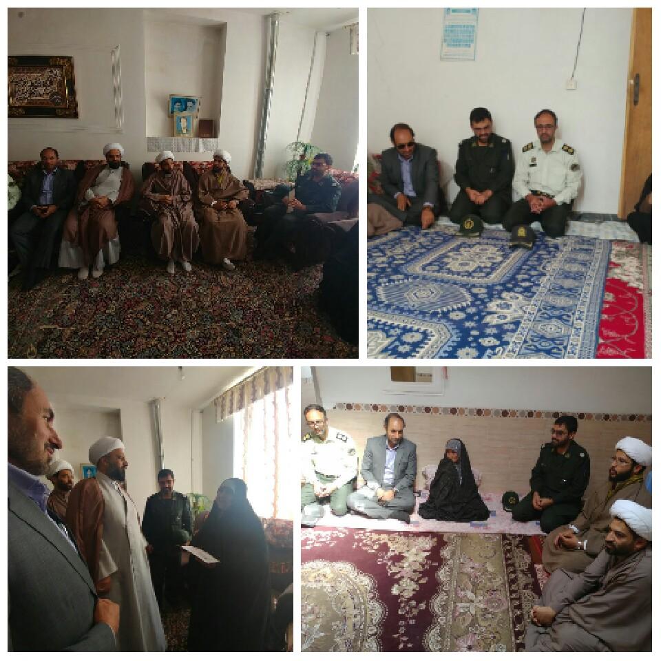 دیدار مسئولین شهرستان با خانواده شهدای افتخار آفرین  عملیات بیت المقدس سال ۶۱ در رابر/تصاویر