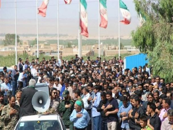 پدر سردار شهید حاج علی محمدی پور در رفسنجان تشییع و خاکسپاری شد/تصاویر