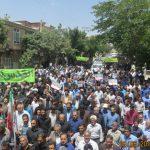 خروش مردم زادگاه سردار سلیمانی در دفاع از مظلومیت