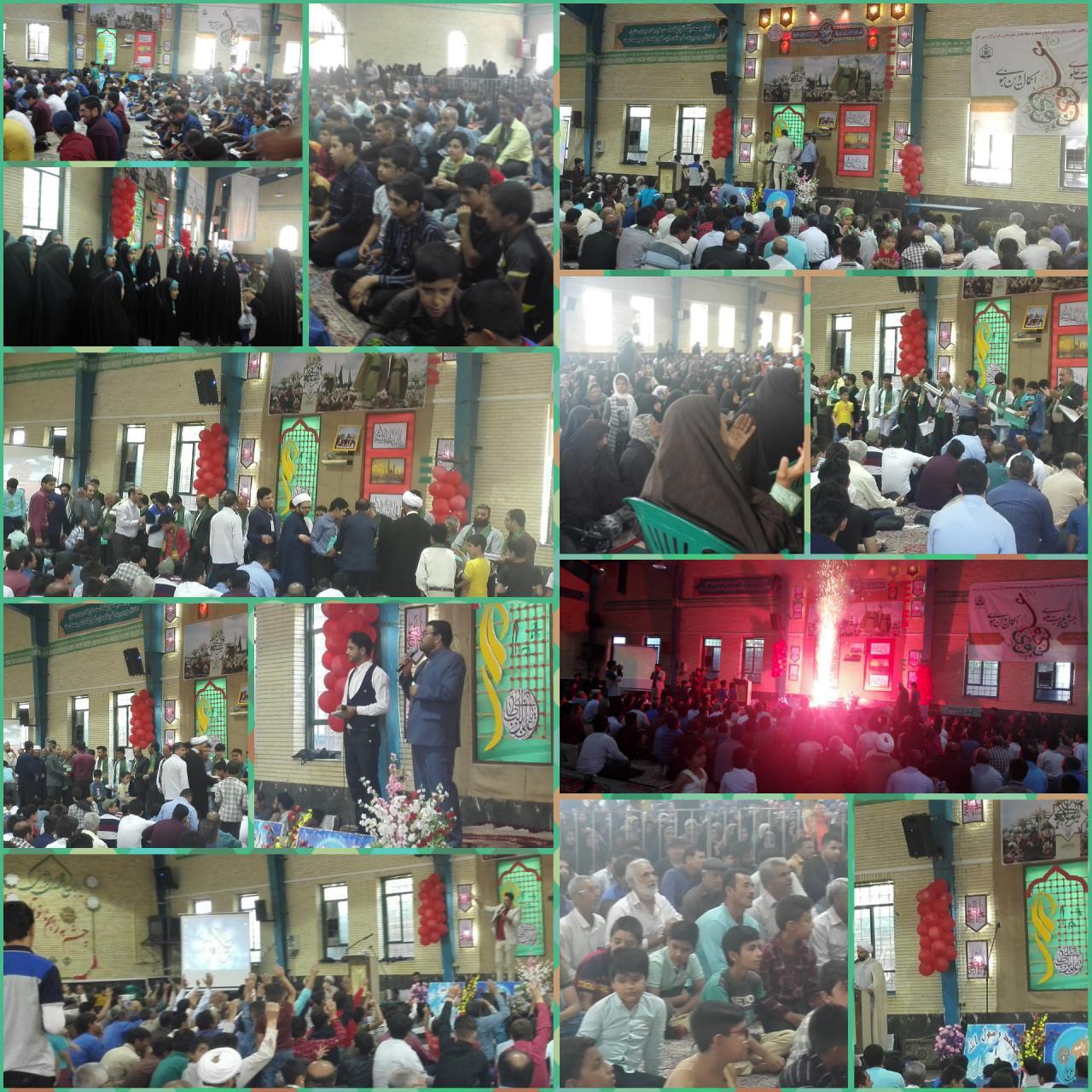 جشن بزرگ عید غدیر در رابر/تصاویر