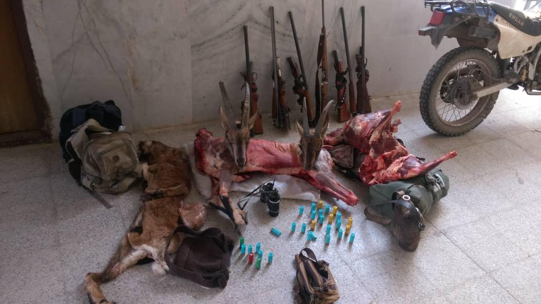 دستگیری شکارچیان متخلف در منطقه کوهشاه رابر