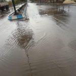 بارش شدید باران و آبگرفتگی معابر در رابر/ تصاویر