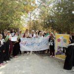 تجدید میثاق با شهدا به مناسبت هفته بسیج دانش آموزی در رابر