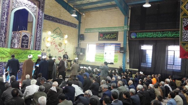 مراسم تکریم و معارفه امام جمعه جدید رابر برگزار شد