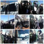 اعزام ۷۶ زائر کربلای ایران از رابر به مناطق جنوب کشور /تصاویر